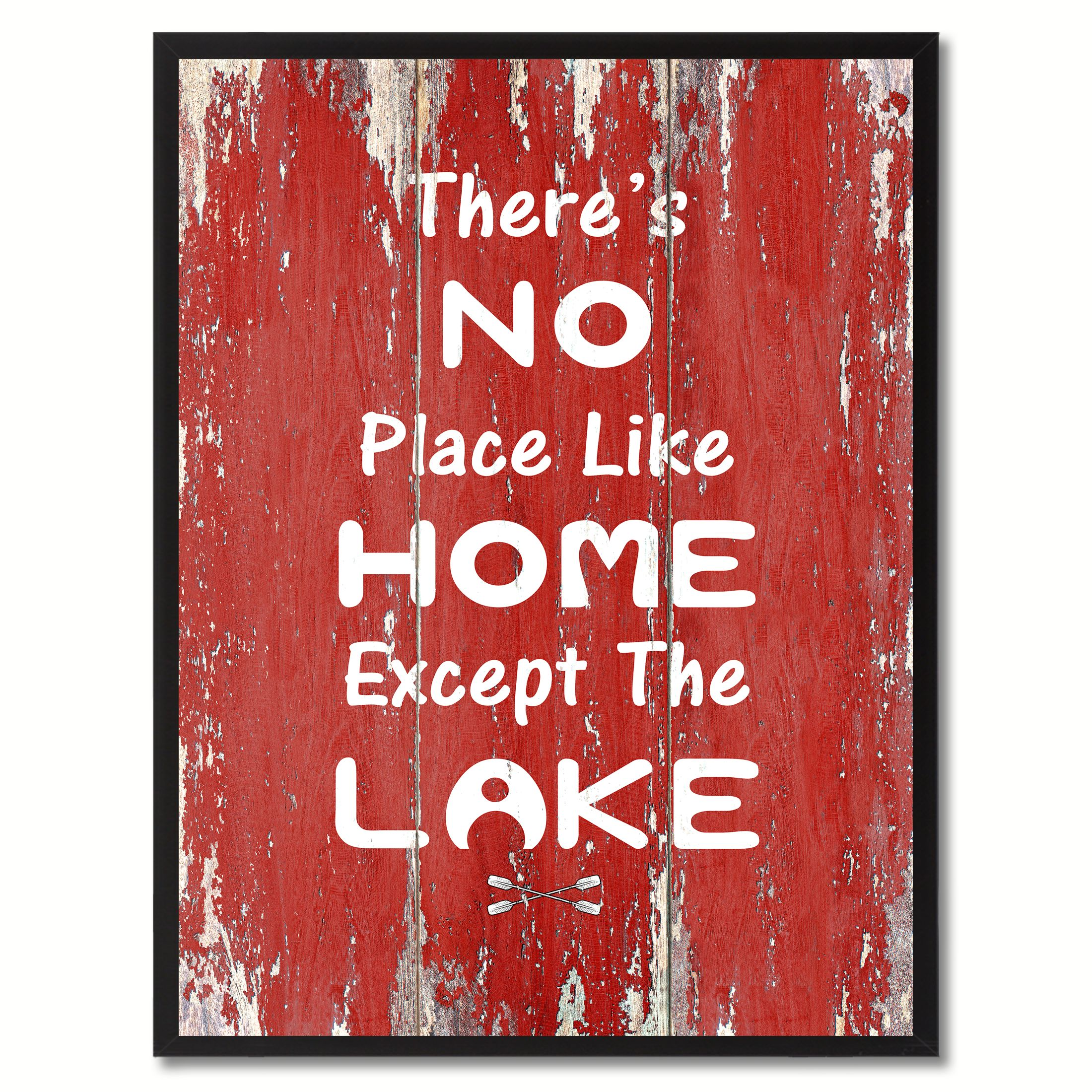 12 Home Decor Gift Ideas From Walmart: There's No Place Like Home Except The Lake Quote Saying