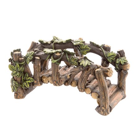 Darice Arched Log-Like Fairy Garden Bridge with Ivy (Fairy Garden Supplies Cheap)
