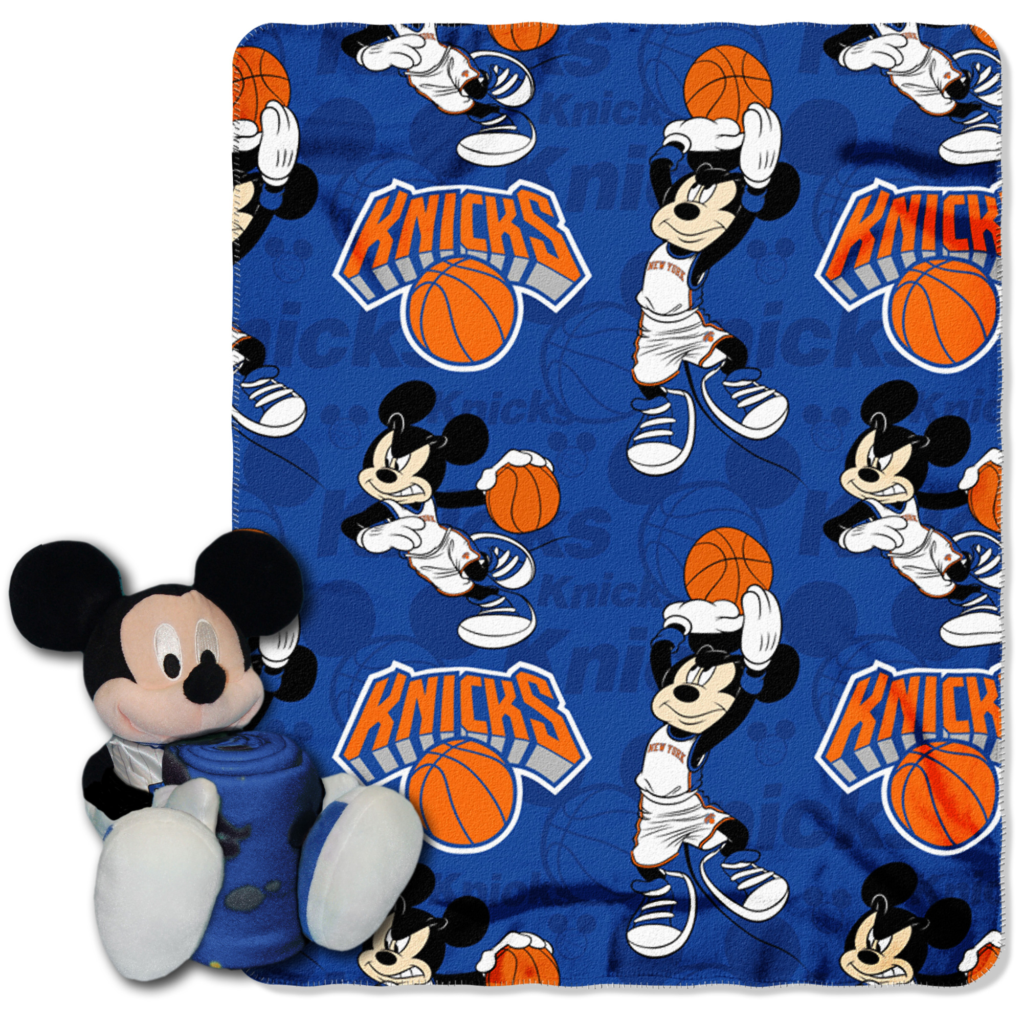 New York Knicks The Northwest Company 40'' x 50'' Mickey Mouse Hugger Throw - No Size