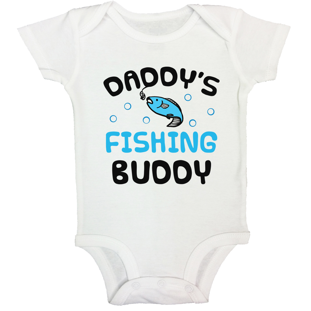 Great baby shower gift! Infant Bodysuit Daddy/'s Fishing Buddy Funny Baby Bodysuit