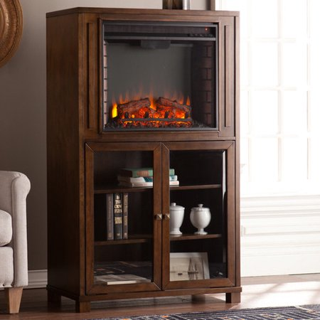 Charlton home jaeger storage tower electric fireplace for Storage charlton