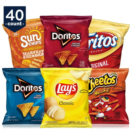 Frito-Lay Classic Mix Variety Pack, 1 oz 40 Count White Classic Chip