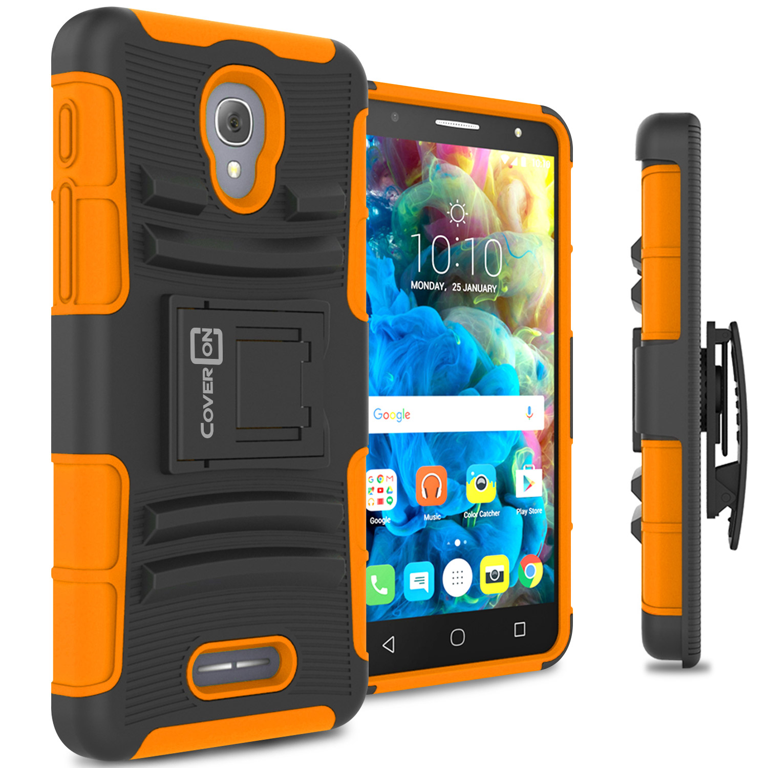 CoverON Alcatel Fierce 4 OneTouch Allura Pop 4+ Case, Explorer Series Protective Holster Belt Clip Phone Cover