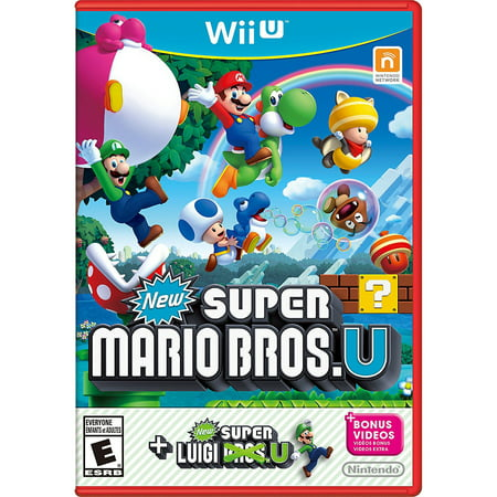 New Super Mario Bros. U + New Super Luigi U, Nintendo, WIIU, [Digital Download], (Mario And Luigi Superstar Saga Wii U)