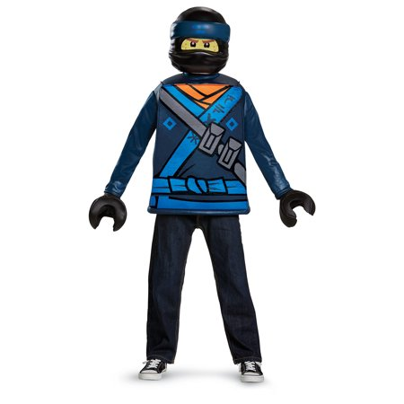 Lego Ninjago Boys' Jay Movie Classic Costume - Lego Ninjago Halloween Costume Zane
