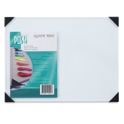"New Wave POSH Glass Table Top Palettes, Gray, 9"" x 12"""