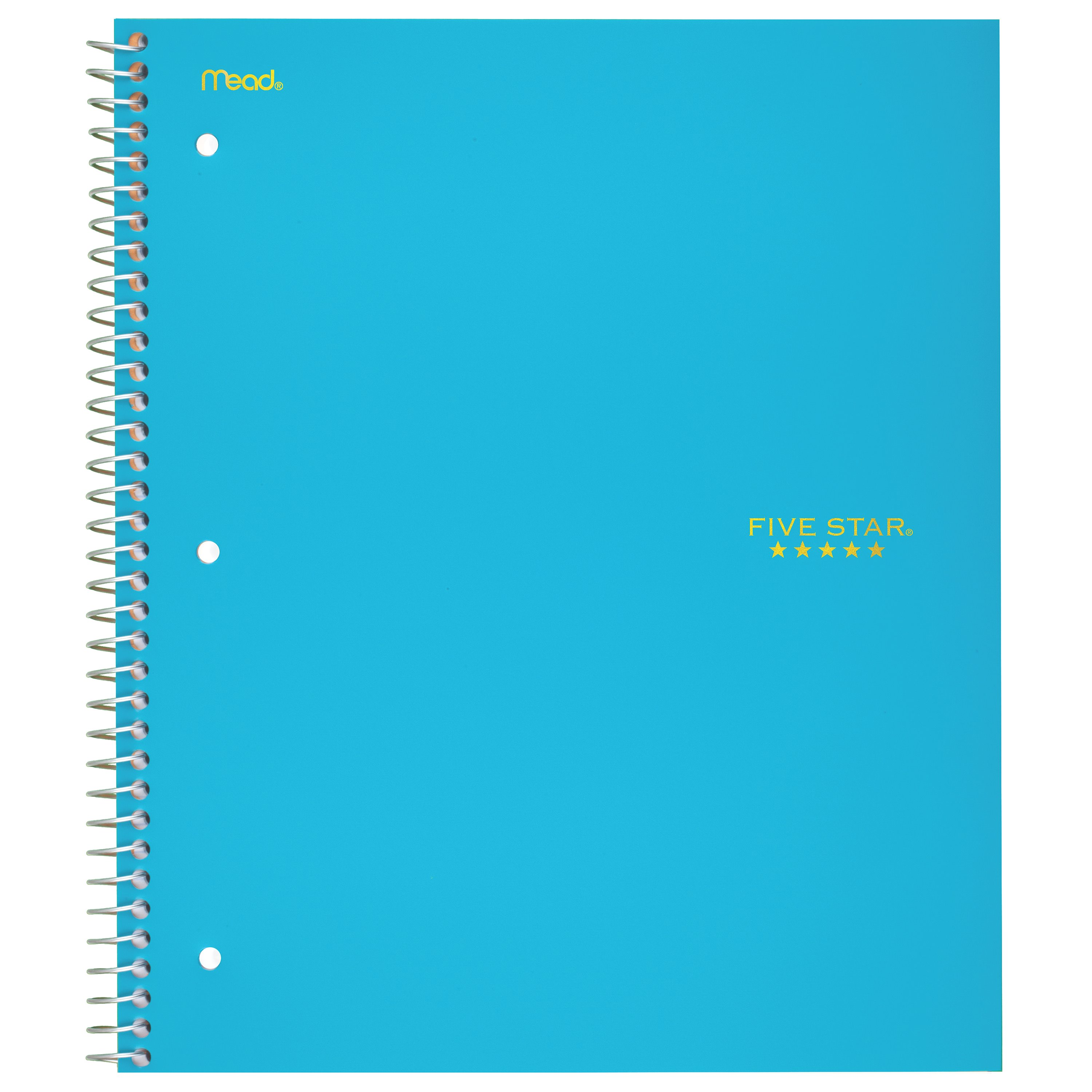 Five Star Trend Notebook, 5 Subject, Wide Ruled, Assorted Colors (05491)