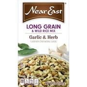Near East Long Grain & Wild Rice Mix, Garlic & Herb, 5.9 oz Box
