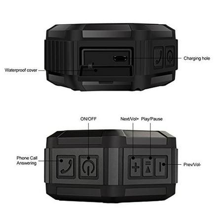 AROTAO Bluetooth Speaker Portable Wireless Outdoor & Shower Waterproof Speaker Compatible with Bluetooth Device (Black) - image 1 de 1
