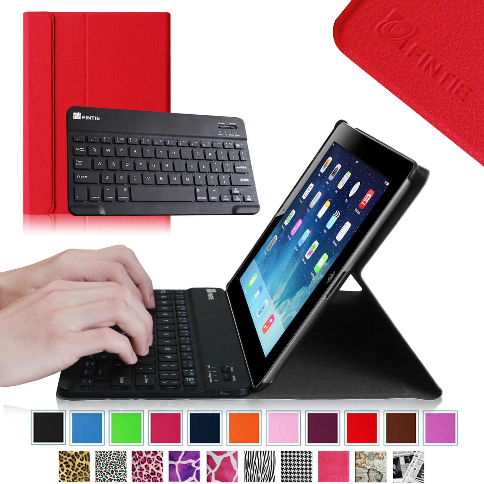Apple iPad 4, iPad 3 & iPad 2 Keyboard Case - Fintie SmartShell Stand Cover with Detachable Bluetooth Keyboard, Red