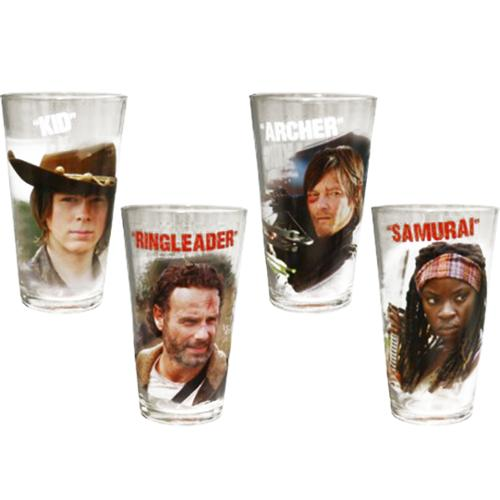 Walking Dead Characters Pint Glass Set