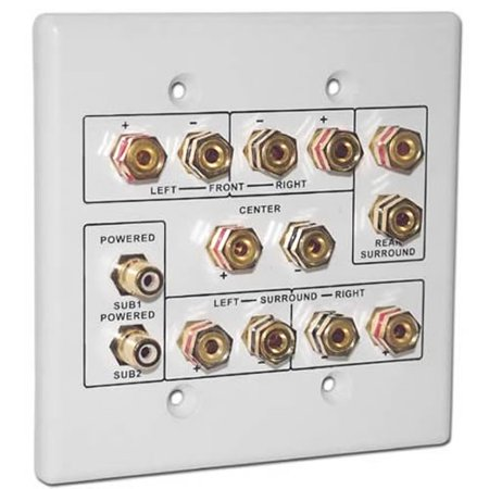 Choice Select 6.2 Home Theater Connection Wall Plate, white ...