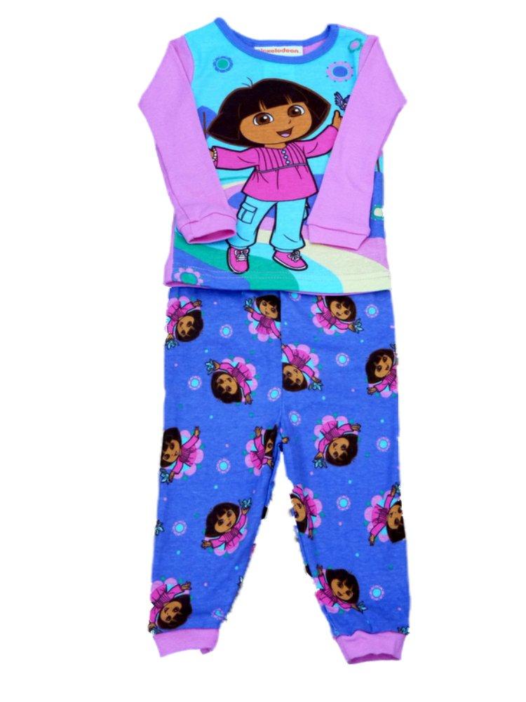 Dora the Explorer Infant Girls Pink & Purple Sleepwear Set Pajamas Baby PJs 12m