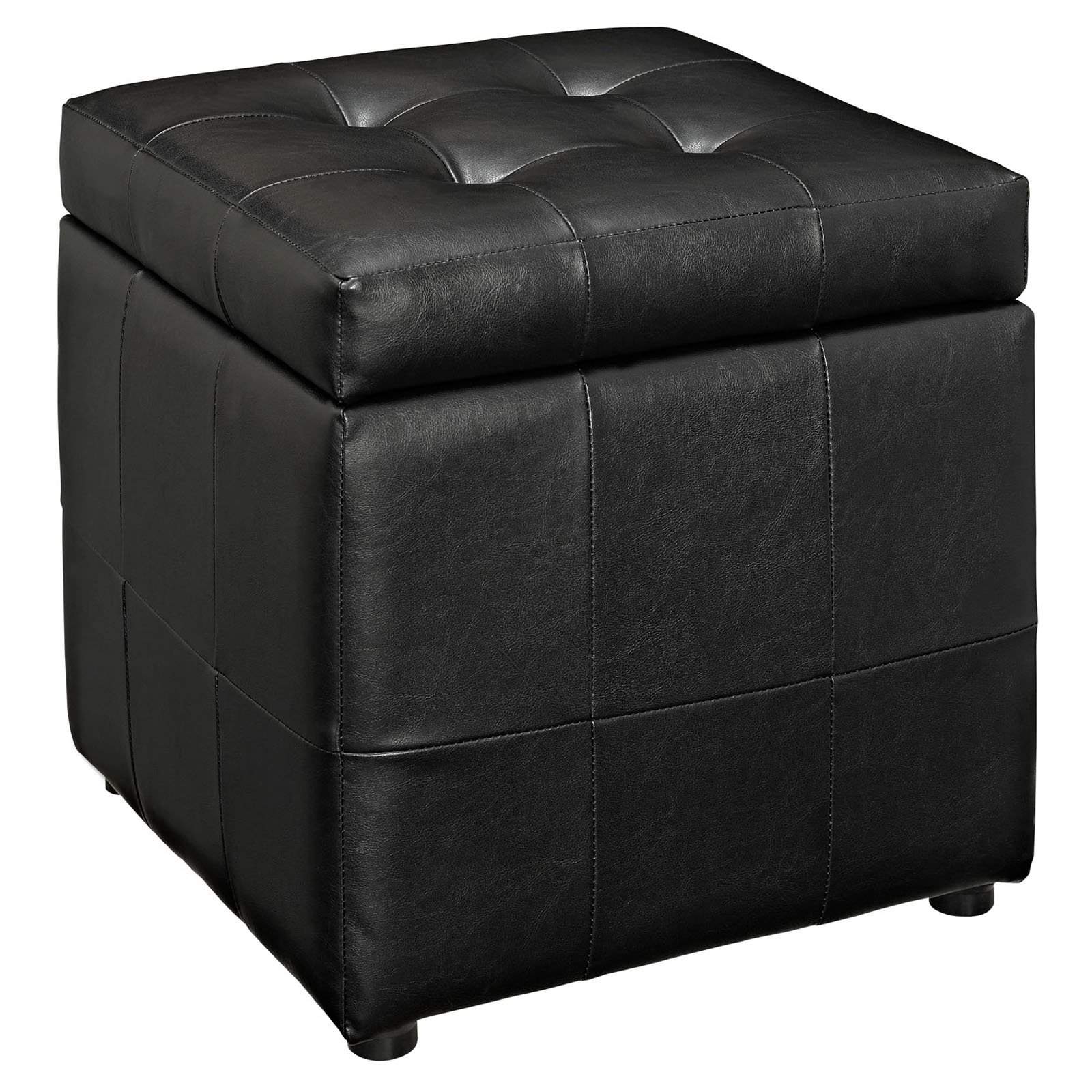 Modway Volt Leatherette Storage Ottoman, Multiple Colors