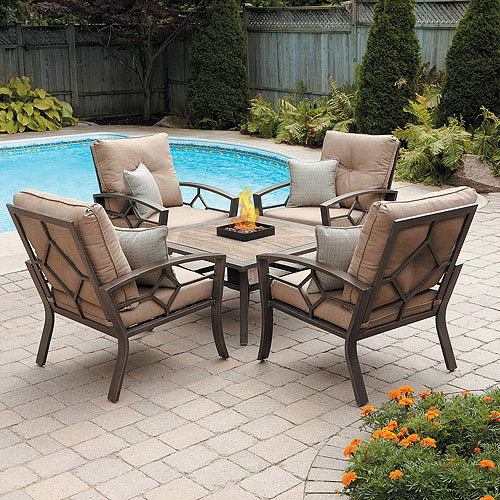Kennedy 5-Piece Conversation Set with Fire Pit