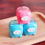 JOYFEEL Cute Cartoon Pig Pencil Sharpener Manual Mechanical Pencil Sharpener Transparent Candy Colored for for Kids for Kids