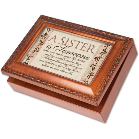 - Sister Is Someone Woodgrain Music Box / Jewelry Box Plays Wind Beneath Wings, Easily Personalize With Your Own Photos And Messages By Cottage Garden