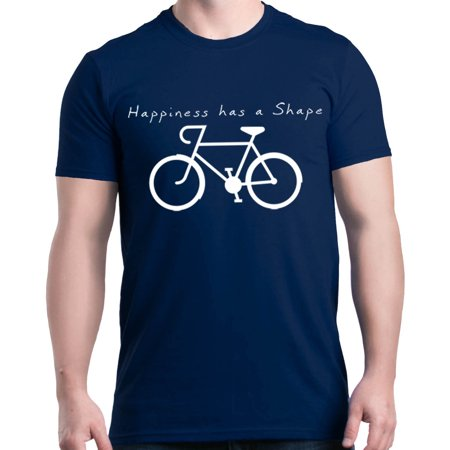 - Shop4Ever Men's Happiness Has a Shape Bicycle Graphic T-shirt