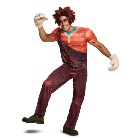 Disguise Men's Ralph Deluxe Adult Costume, Extra Large (42-46) - Halloween Costumes Wreck It Ralph