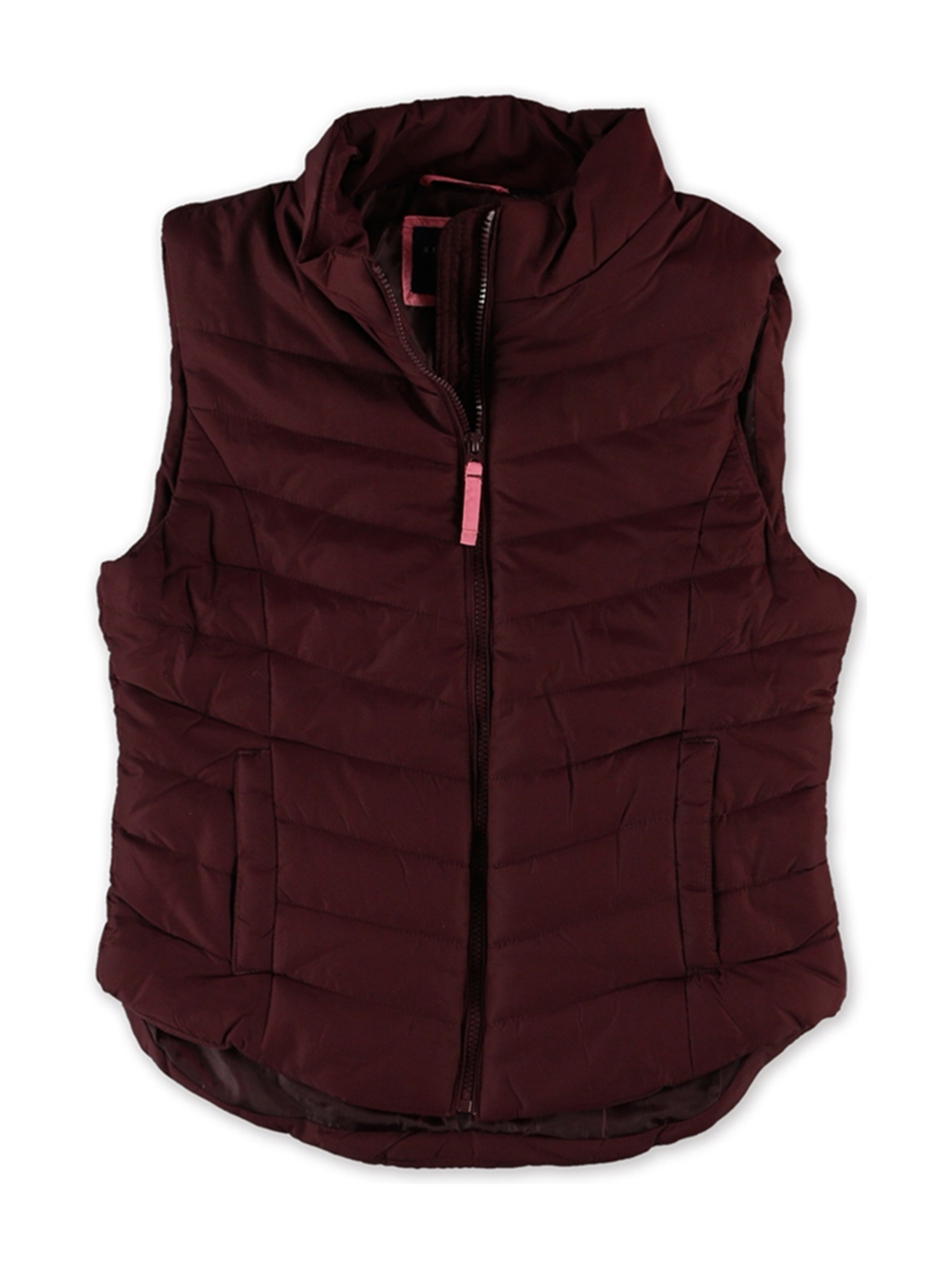 aeropostale juniors solid full-zip puffer jacket