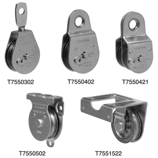Apex Tools Group T7550303 2. 5 inch Heavy Duty Steel Single Sheave Swivel Eye Pulley