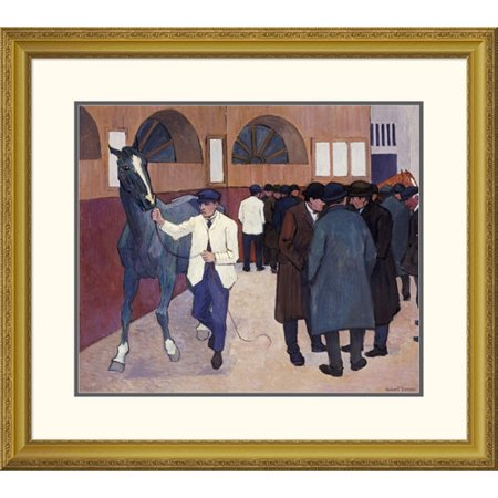 Global Gallery Horse Dealers At The Barbican By Robert Bevan Framed Painting Print