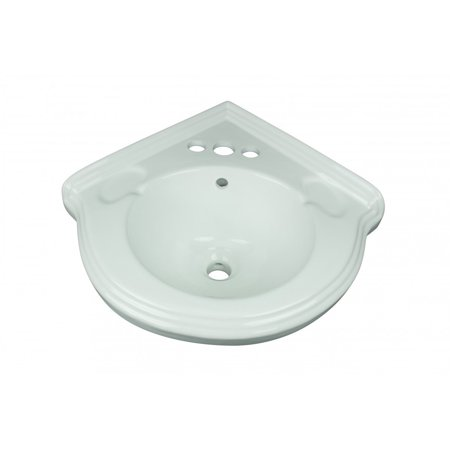 - Corner Wall Mount Small Bathroom Sink White Ceramic Vitreous China