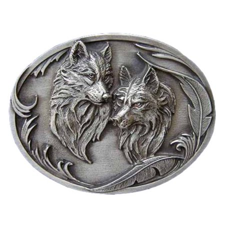Wolf Couple Novelty Belt Buckle