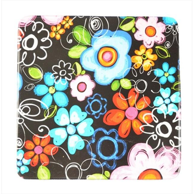 Andreas TRS-266 8. 25 inch Big Bloom Square Silicone Trivet - Pack of 3