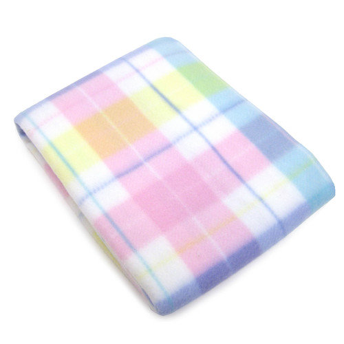 Making Miracles by NoJo Pastel Plaid Fleece Blanket