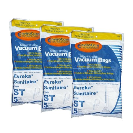 15 Eureka Sanitaire Type ST Vacuum Bags, Express, Power Team Canister, Home Cleaning System Vacuum Cleaners, 63213, 63213A, 63213-g5, 63213-10,.., By Generic