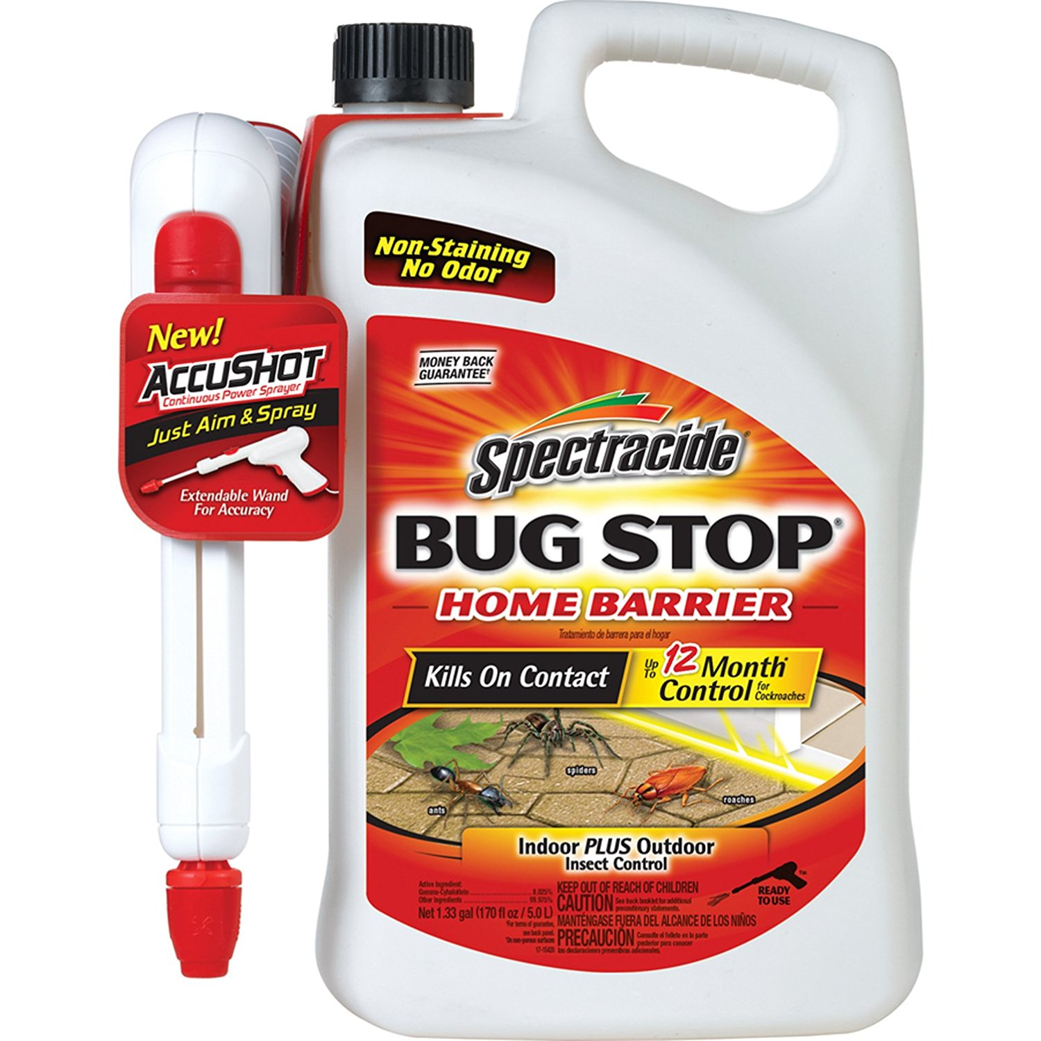 Spectracide Bug Stop Home Barrier with AccuShot, 1.33 Gallon