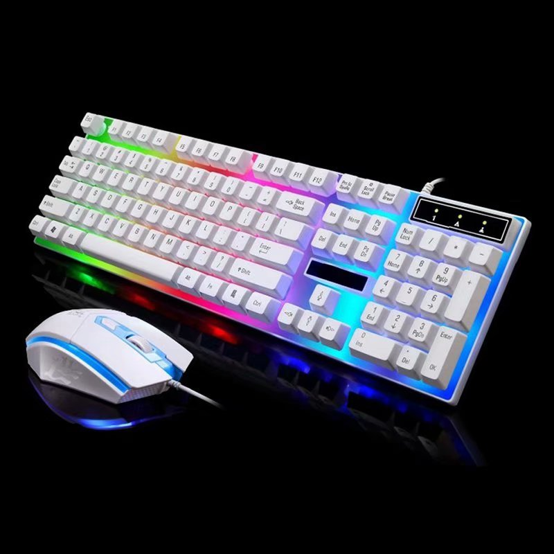 VicTsing LED Colorful Backlight Adjustable Gaming USB Wired Keyboard Black