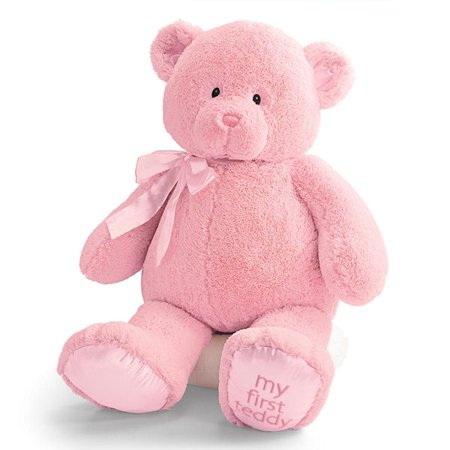 GUND 021032 My First Teddy Pink Baby Safe Stuffed Jumbo Bear
