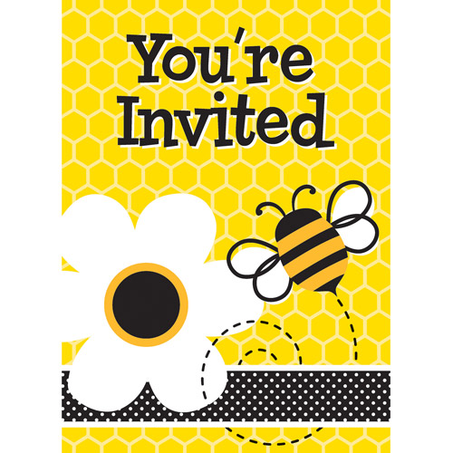 Busy Bees Invitations w/ Env. (8ct)