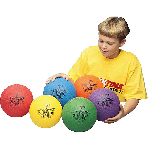 "Sportime Poly Playground Ball, 7"", Set of 6"