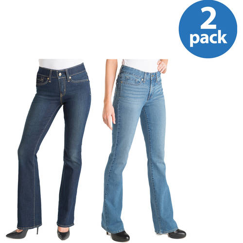 Signature by Levi Strauss & Co. Women's Totally Shaping Bootcut Jeans 2pk Value Bundle