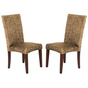A Line Furniture Montgomery Rattan Woven Natural Dining Chairs (Set of 2)