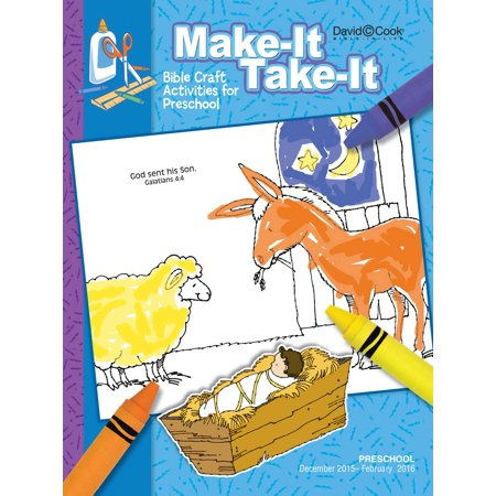 Bible-In-Life/Reformation Press Winter 2018-2019: Preschool Make-It/Take-It (Craft Book) (#1013) - Winter Preschool Crafts