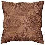 "Rizzy Home Decorative Poly Filled Throw Pillow Geometric 18""X18"" Brown"
