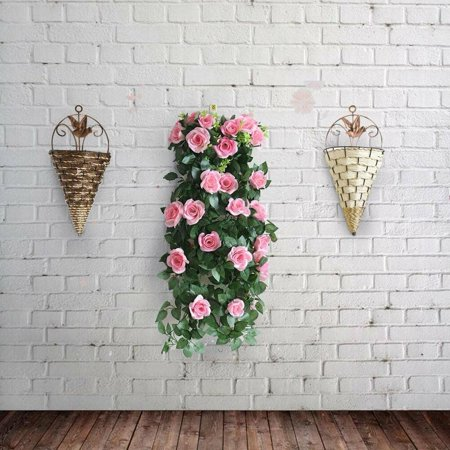 The Noble Collection Wall Mounted Hanging Pot Cone Planter Flower Basket Vase for Home Yard (Freda Wall Mount Planter)