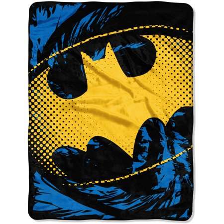 "Warner Bros. Batman ""Ripped Shield"" 46"" x 60"" Micro Raschel Throw"