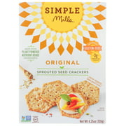 (6 Pack) Simple Mills Original Sprouted Seed Crackers, 4.25 Oz.