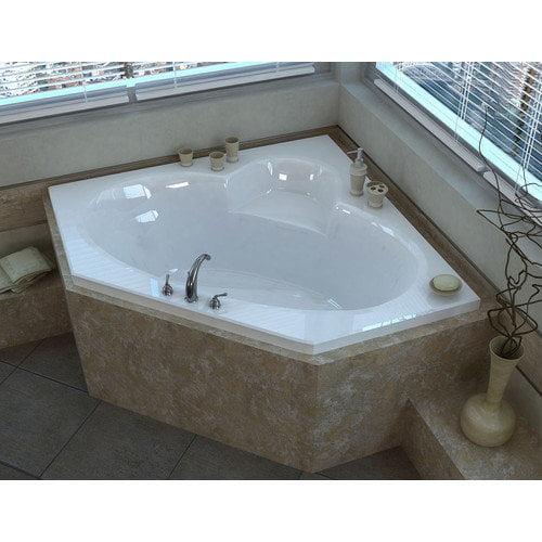 Spa Escapes Curacao 61.13'' Corner Soaking Bathtub with Center Drain