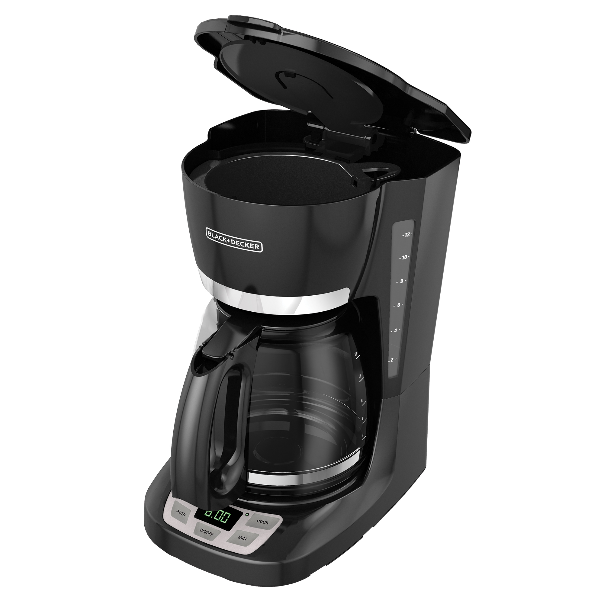 BLACK+DECKER 12-Cup QuickTouch Programmable Coffeemaker, Black, CM1060B