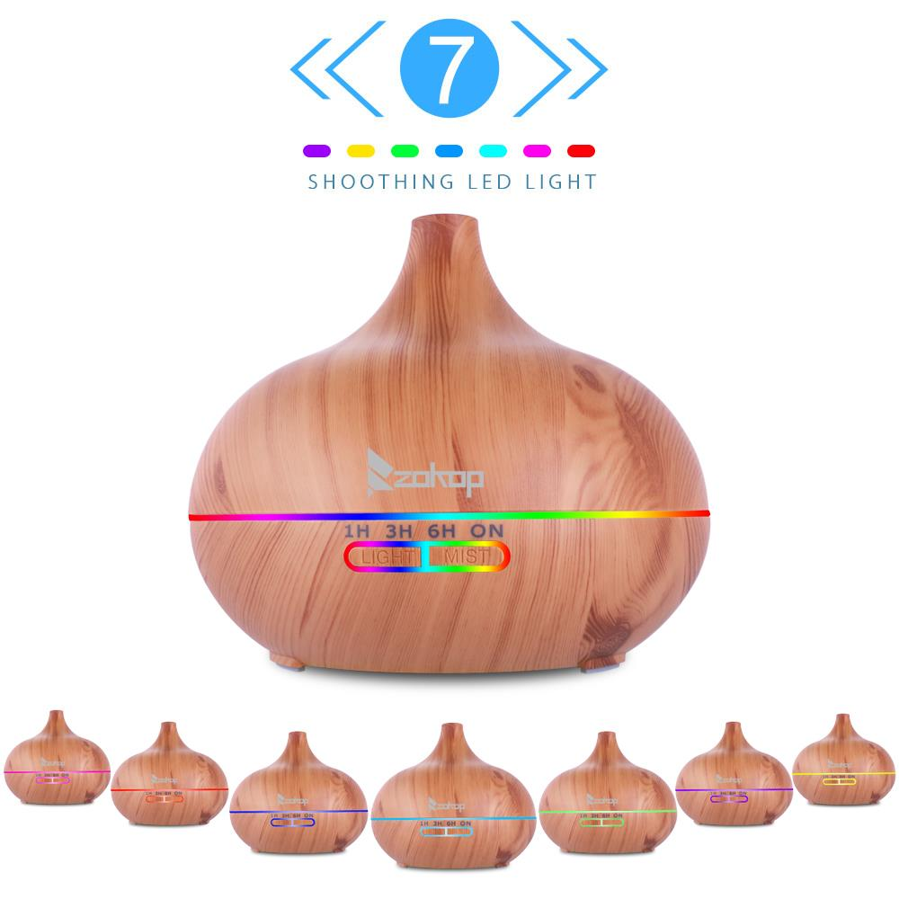 Ktaxon 500ml 7 LED Essential Oil Humidifier Aroma Air Aromatherapy Diffuser Cool Mist