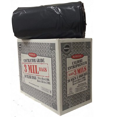 BAGS GARBAGE, SUPERSAK 33X48 BLACK ROLLFORM, 30/CTN - image 1 de 1