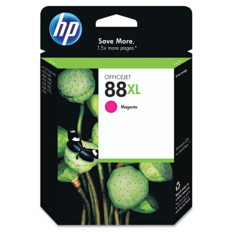HP 88XL, (C9392AN) High Yield Magenta Original Ink Cartridge -HEWC9392AN