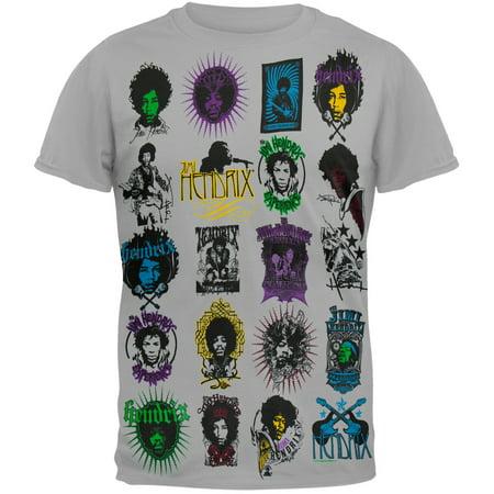 Jimi Hendrix - Poster Art Logo T-Shirt