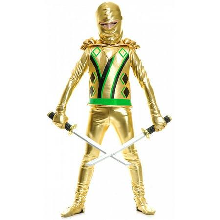 Gold Ninja Avenger Child Costume - X-Large - The Gold Ninja